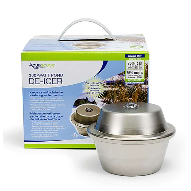 AQS-39000-U-C Aquascape 300 Watt Stainless Steel Pond Heater & Deicer Water Garden (For Parts) 4