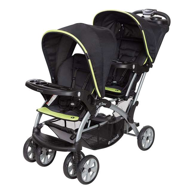 SS76B71A Baby Trend Sit N' Stand Double Stroller, Optic Green