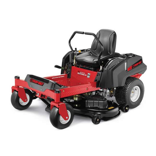TB-17CDCACW066 Mustang 54 Zero Turn Residential Riding Lawn Mower, Red 1