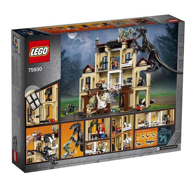 6212620-U-B LEGO Jurassic World Indoraptor Rampage at Lockwood Estate Build Kit (Used) 4
