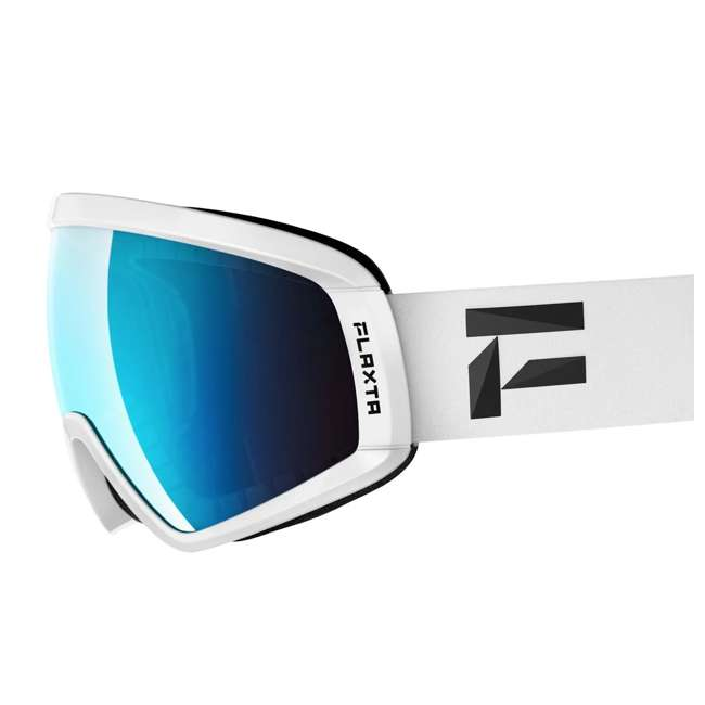 FX801002010ONE Flaxta Continuous Peripheral Vision Snowboard and Ski Goggles, White and Blue 1