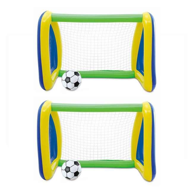 KF0076000167 2) Big Play Sports Jumbo Inflatable Pool Goal and Ball Soccer Set