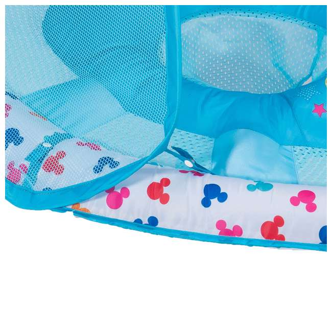 25440-SW-U-A SwimWays Inflatable Infant Baby Pool Float w/ Canopy, Mickey Mouse (Open Box) 4