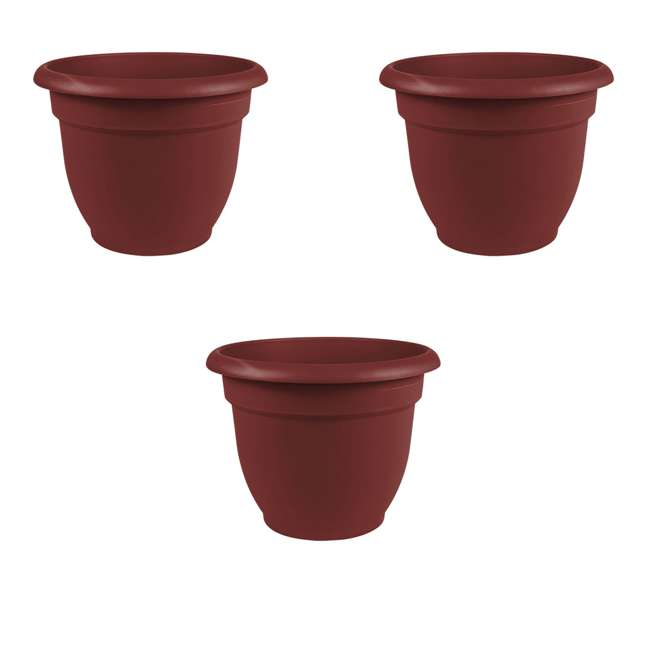 3 x AP0612 Bloem Ariana 6 Inch Self Watering Planter, Union Red (3 Pack)