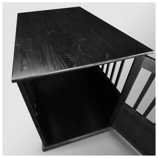 600-22 Casual Home Large Pet Crate End Table, Black 4