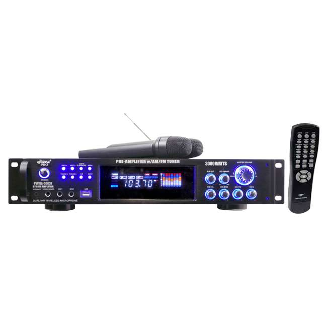 PWMA3003T Pyle Pro PWMA3003T 3000W Hybrid Pre Amplifier with USB and 2 Microphones