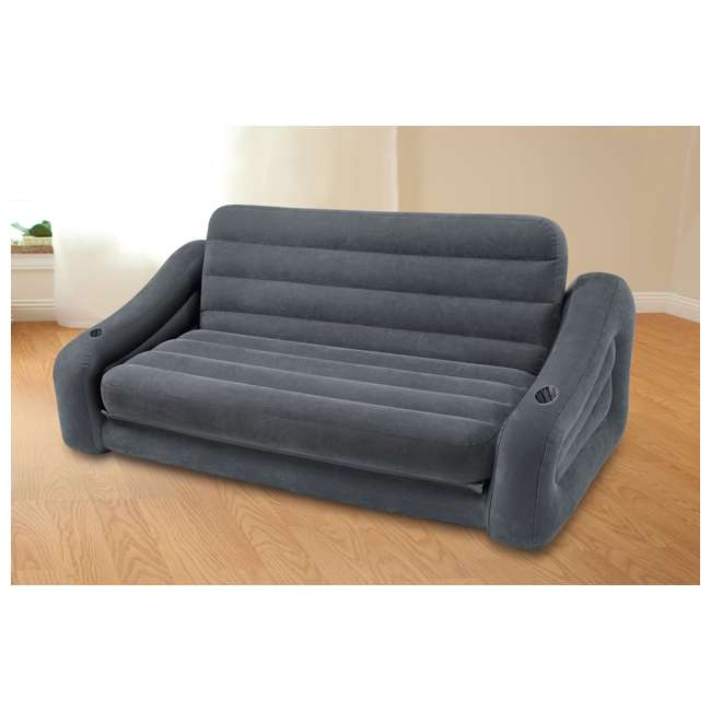 Inflatable Sofa Review: Intex Queen Inflatable Pull-Out Sofa Air Mattress : 68566VM