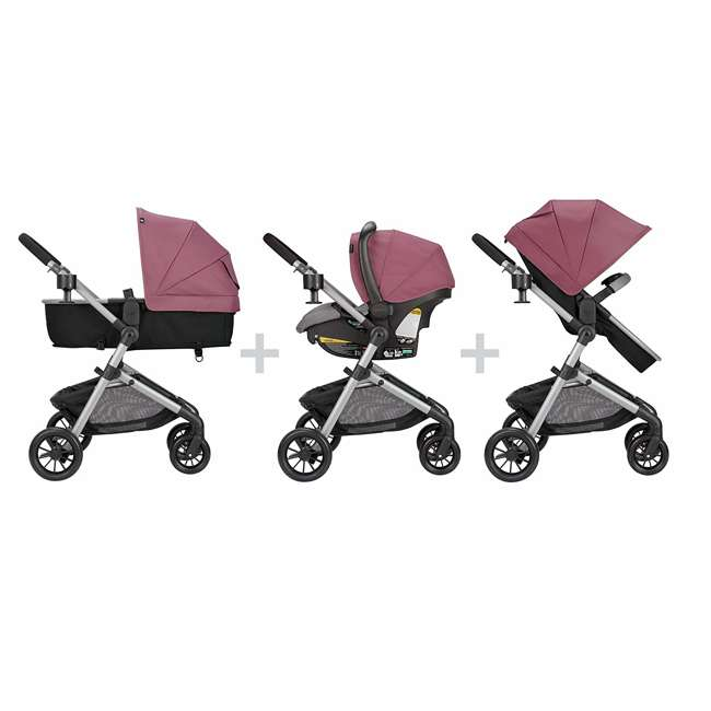 56012217 Pivot Stroller & Car Seat Travel System, Dusty Rose 1