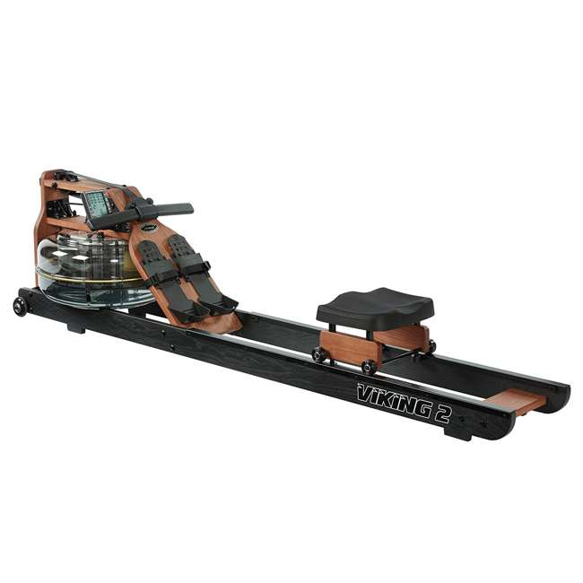 VIK2ARB First Degree Fitness Indoor Water Rower with Adjustable Resistance - Apollo Pro II Black Reserve