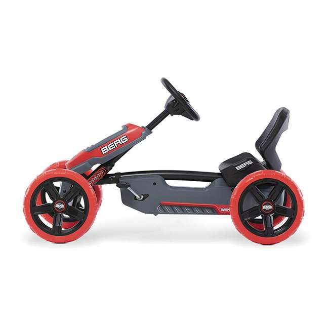 24.60.02.00 BERG Reppy Rebel Kids Pedal Go Kart Ride On Toy w/ Axle Steering, Red and Gray 1