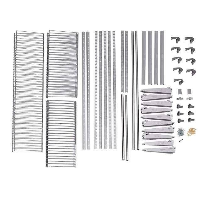 2060336 Rubbermaid Deluxe Custom Closet Organizer System Kit, 4-to-8-Foot, Titanium