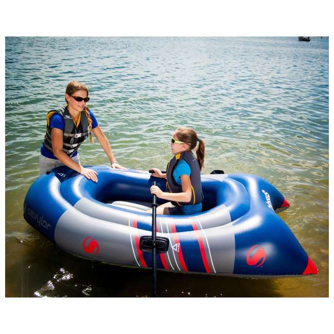4 x 2000014138 Sevylor Colossus 2 Person Inflatable Boat Raft with Oars (4 Pack) 4