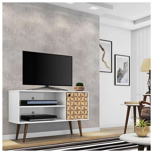 212BMC67 Manhattan Comfort Liberty 42.52 Inch Mid Century Modern Wood TV Stand with Legs 2