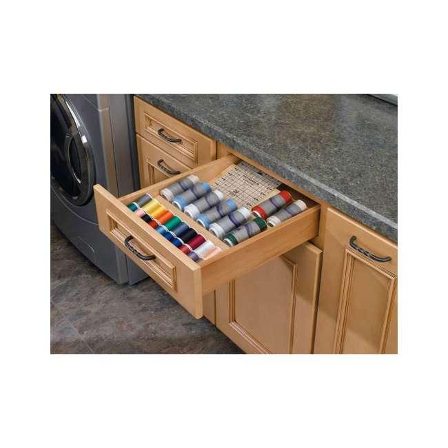 4SDI-18 Rev-A-Shelf 4SDI-18 18 Inch Wood Drawer Spice Organizer, Natural Maple (2 Pack) 3