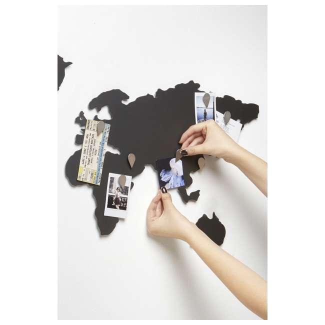 1008050-624 Umbra Mappit Metal World Map Wall Art Decor 5