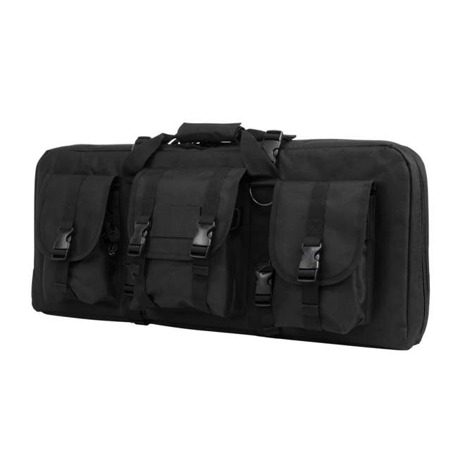 CVCPD2962B-28 NcSTAR VISM 28 Inch Double Pistol & Subgun Padded Soft Gun Case Carry Bag, Black