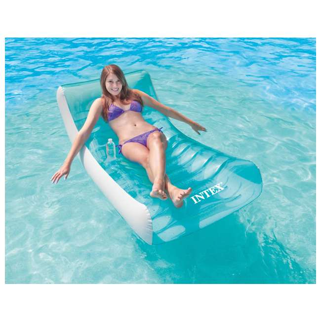 6 x 58856EP-U-A Intex  Inflatable Rockin' Lounge Pool w/ Cupholder | 58856EP (Open Box) (6 Pack)