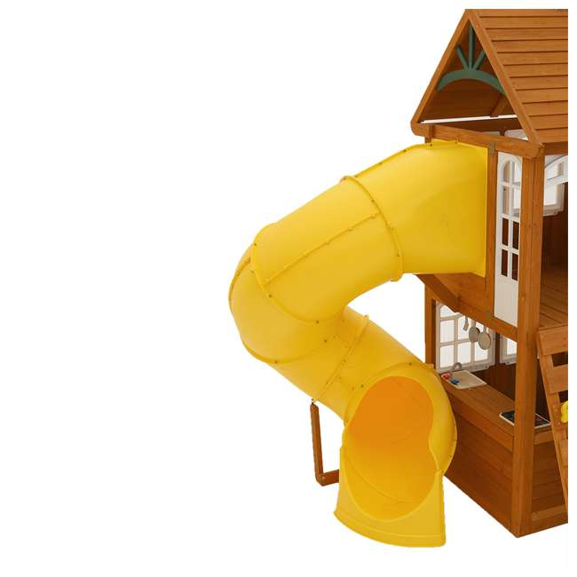 F24953 KidKraft F24953 Creston Lodge Kids Wooden Outdoor Playset 2