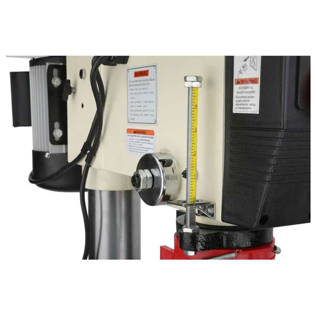 M1039 Shop Fox M1039 20 Inch 1.5 Horsepower Floor Drill Press with Work Light, White 6