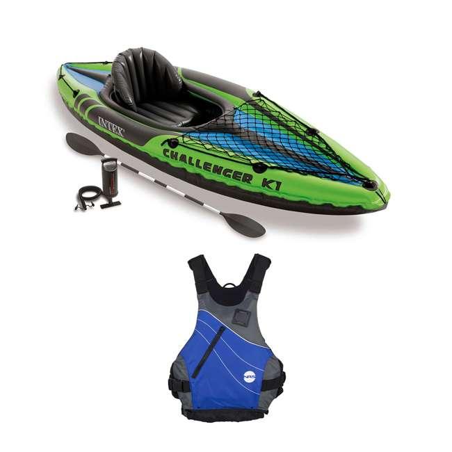 68305EP + NRS_40034_01_104 Intex Kayak Set & NRS Vapor Adult L/XL PFD Life Vest