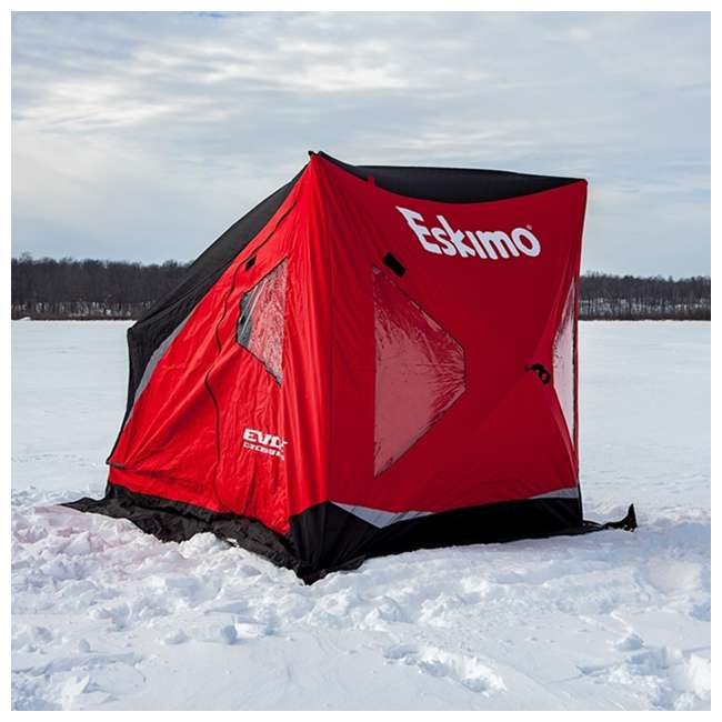 ESK-25501 Eskimo 25501 Evo 1iT 1-Person Portable Ice Fishing Shelter & Sled 4