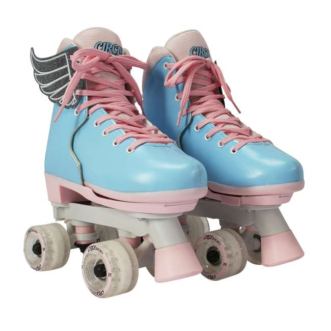168260 Circle Society Classic Cotton Candy Kids Skates, Girls Sizes 12 to 3