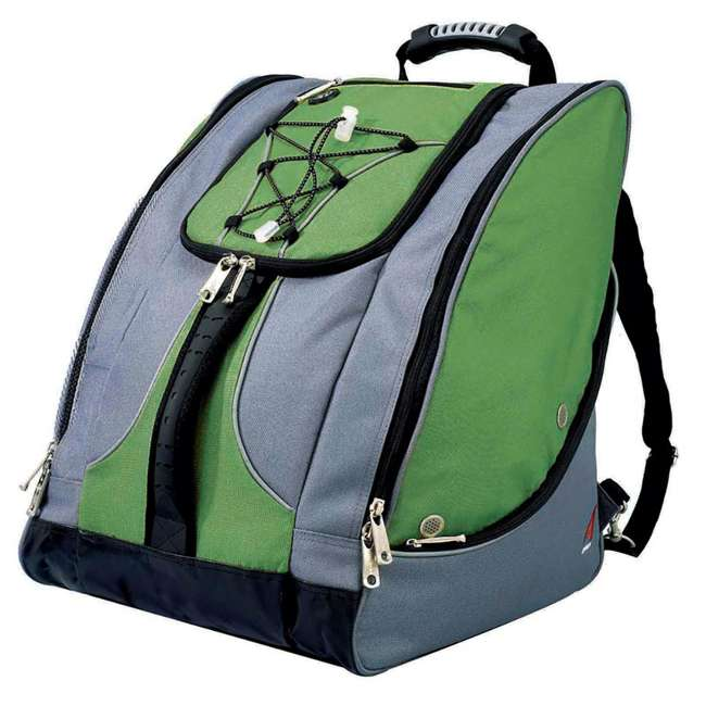 330GG Athalon Everything Travel Ready Camping and Hiking Boot Bag Backpack, Green Gray