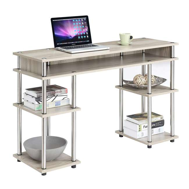 R4-0328 Convenience Concepts R4-0328 Designs2Go Five Shelf Ergonomic Laminated Desk 4