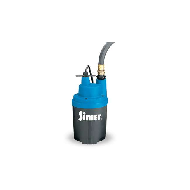 2330-03 Simer Smart Geyser 1/4 HP Submersible Auto Utility Pump