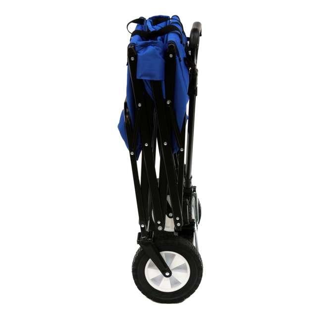 3 x MAC-WTC-111-BLUE-U-A Mac Sports Folding Steel Frame Outdoor Utility Wagon Cart (Open Box) (3 Pack) 4