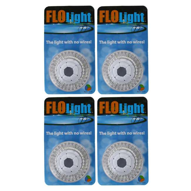 4) LED Swimming Above Inground Pool Flo Lights Wireless | 4 Pack