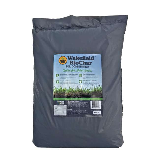 WFBCSC-BAG-40 Wakefield 1 Cu Ft Bag Premium Biochar Organic Garden Soil Conditioner (2 Pack) 1