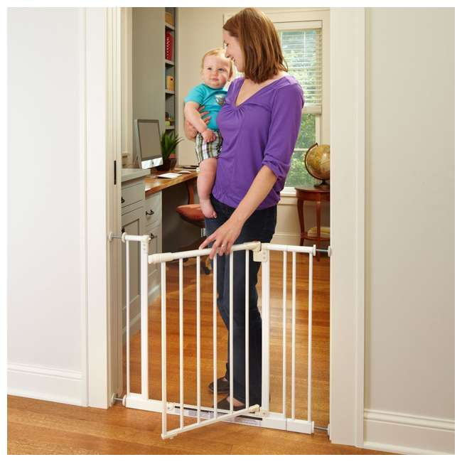 4910S North States Easy Close 28 to 38.5in Metal Baby Pet Gate(Open Box) (2 Pack) 1
