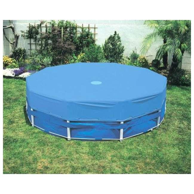 3 x 28030E(58406E) Intex 10' Round Above Ground Pool Vinyl Debris Cover, 28030E  (Open Box) (3 Pack)