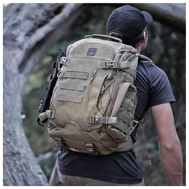 CPG-BP-LEGELT-M-B Cannae Pro Gear Nylon Medium 21L Elite Day Pack Backpack, Black 1