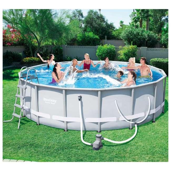Bestway 16 39 x 48 power steel frame above ground pool set for Bestway portable pool