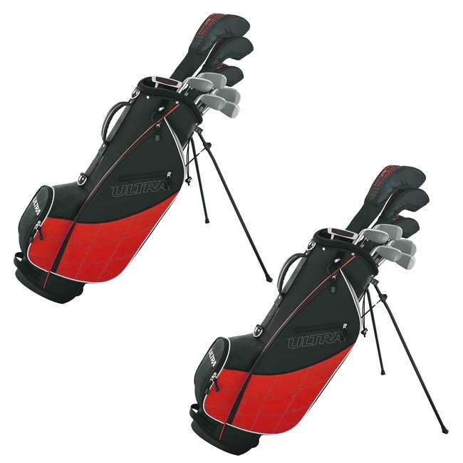 WGGC4320L Wilson Ultra Men's Left Handed Golf Club Set + Stand Bag (2 Pack)