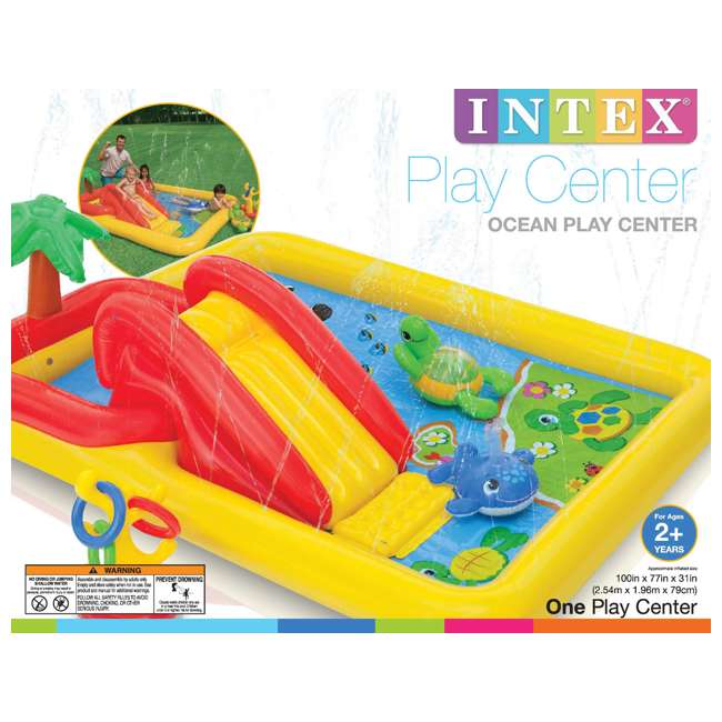 57454EP-U-B Intex Ocean Play Center Kids Inflatable Wading Pool - Used 3