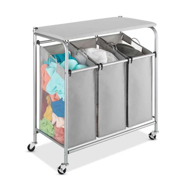 whitmor laundry triple sorter ironing board folding table 6705 7885 bb. Black Bedroom Furniture Sets. Home Design Ideas