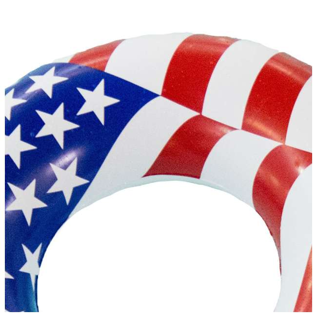 12 x 90196 Swimline 36 Inch Inflatable American Flag Swimming Pool Tube Float (12 Pack) 2