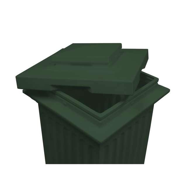 SV-COL-GRN Good Ideas Savannah Patio Outdoor Column 30 Gallon Storage and Waste Bin, Green 1