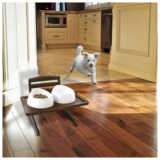 94803 Richell 94803 Easy Assembly Doggy Dining Table Tray with 5 Adjustable Heights 3