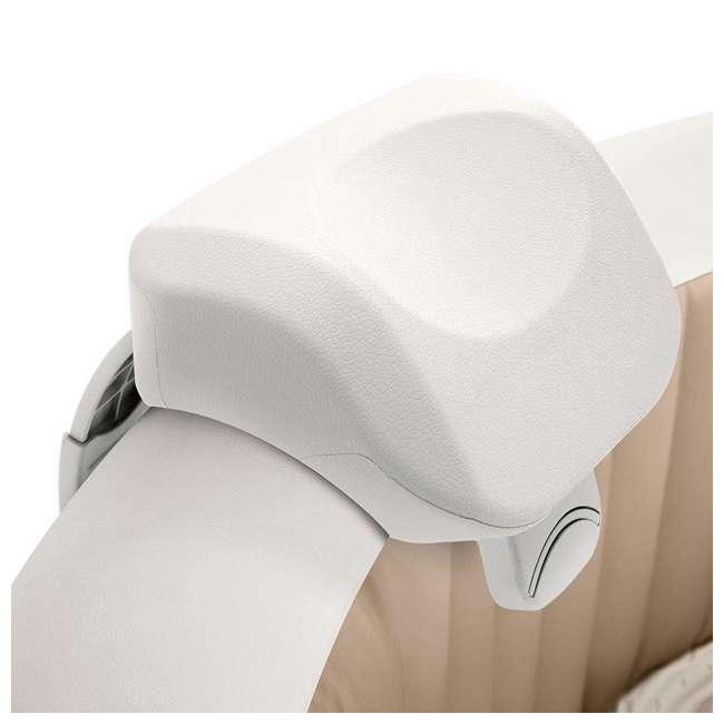 4 x 28505E Intex PureSpa Cushioned Foam Headrest Pillow Hot Tub Spa Accessory, White 4 Pack 1