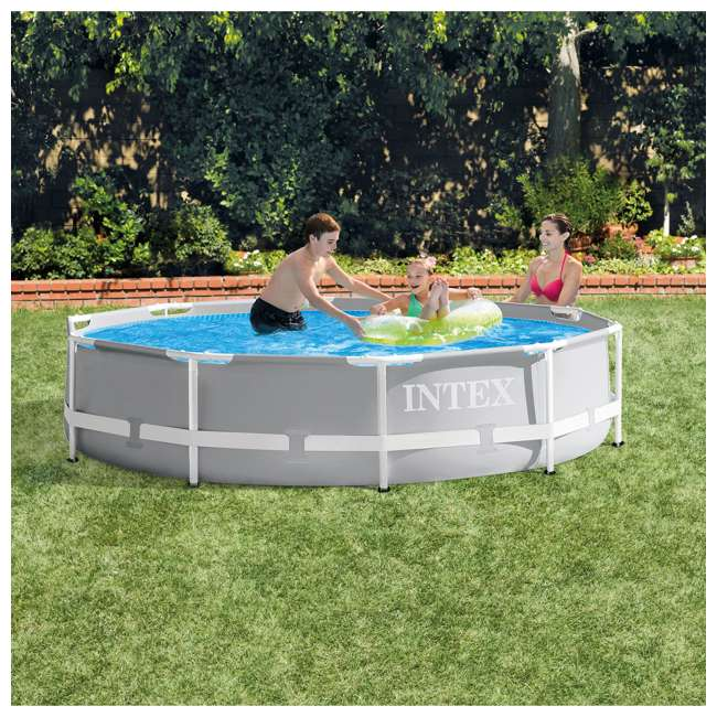 26700EH + 28637EG Intex Above Ground Outdoor Swimming Pool w/ Cartridge Filter Pump System 2