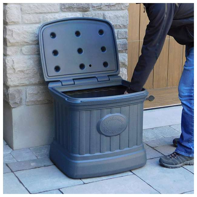 SB120-GRY-S FCMP Outdoor SB120-GRY-S 20 Gal. Sand, Salt, Ice Melt Outdoor Storage Bin, Gray 3