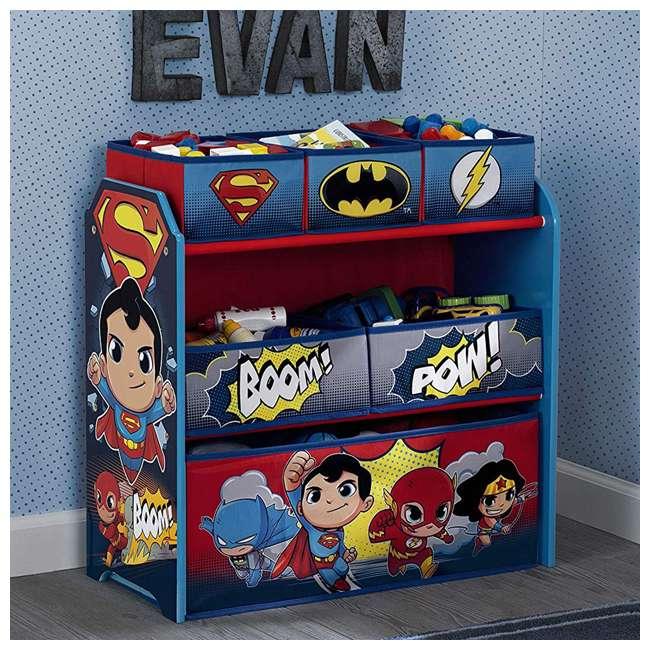 TB83438SP-1217 Delta Children DC Comics Super Friends Multi Toy Box Bin Wood Storage Organizer  5