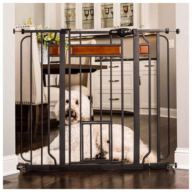 "1140 DS Carlson Pet Products Design Paw 37"" Extra Tall Pet Gate, Graphite"