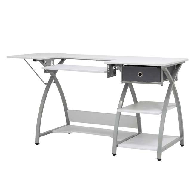 STDN-38018 Sew Ready STDN-38018 Venus Sewing Machine Craft Table Computer Desk, Silver 1