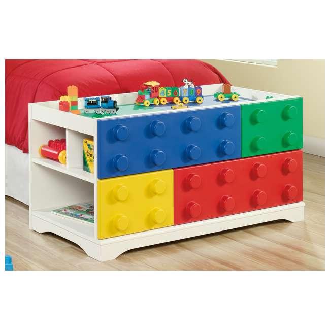 Sauder Furniture Primary Street Children Kids Toy Block Lego Play Table |  417932 : SF 417932