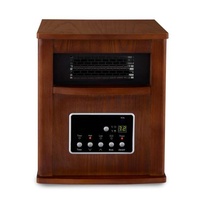 LIM-19-100004 Limina Portable Electric 1500W Infrared Quartz Cabinet Space Heater, Dark Walnut 4